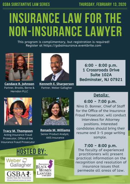 GSBA- Insurance Law Event